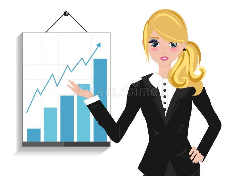 De Conferentie van de bedrijfsvrouwenspreker stock illustratie