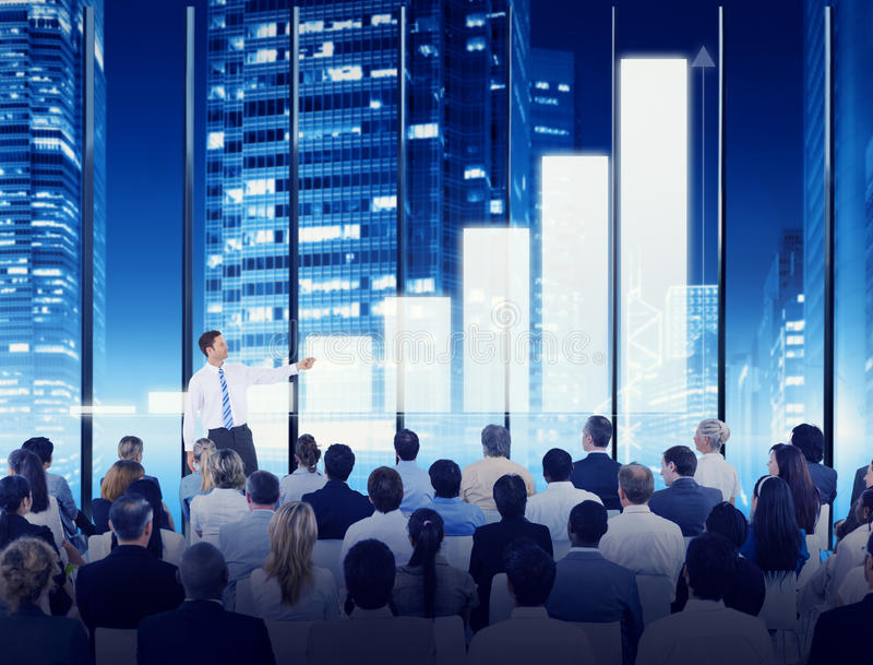 De Conferentievergadering van het bedrijfsmensenseminarie Opleidingsconcept stock foto's