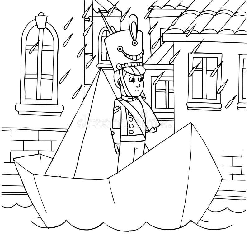 De constante Militair van het Tin royalty-vrije illustratie