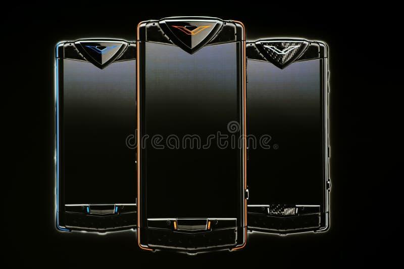 De constellatie mobiele telefoons van Vertu royalty-vrije stock afbeelding