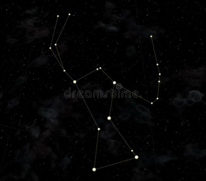 De constellatie is Orion royalty-vrije illustratie