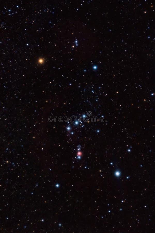 De Constellatie van Orion stock afbeelding