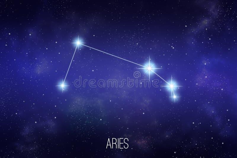 De constellatieillustratie van de Ramdierenriem stock illustratie
