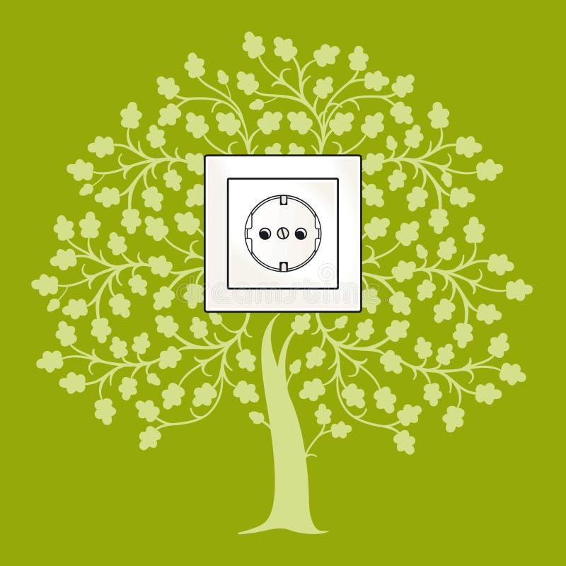 Download De Contactdoos Van De Ecologie Vector Illustratie - Afbeelding: 24156059