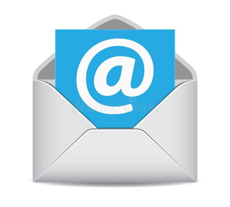 De Contactensymbool van de e-mailpictogramwebsite stock illustratie