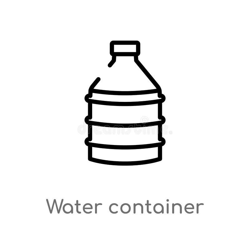 de container vectorpictogram van het overzichtswater de ge?soleerde zwarte eenvoudige illustratie van het lijnelement van voedsel royalty-vrije illustratie