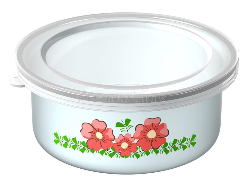 De container voor voedsel vector illustratie