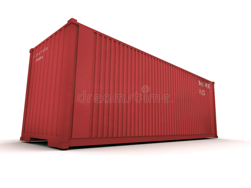 De containerrood van de lading royalty-vrije stock foto