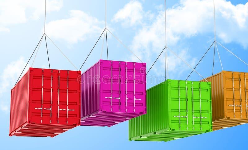 De containers stock illustratie