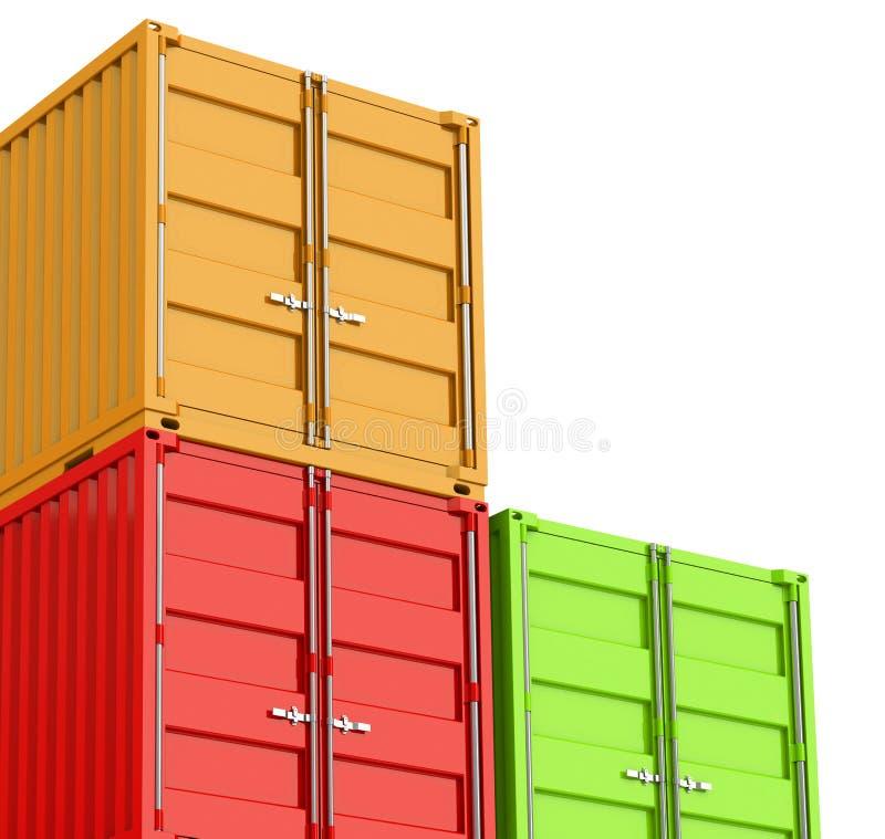 De containers vector illustratie