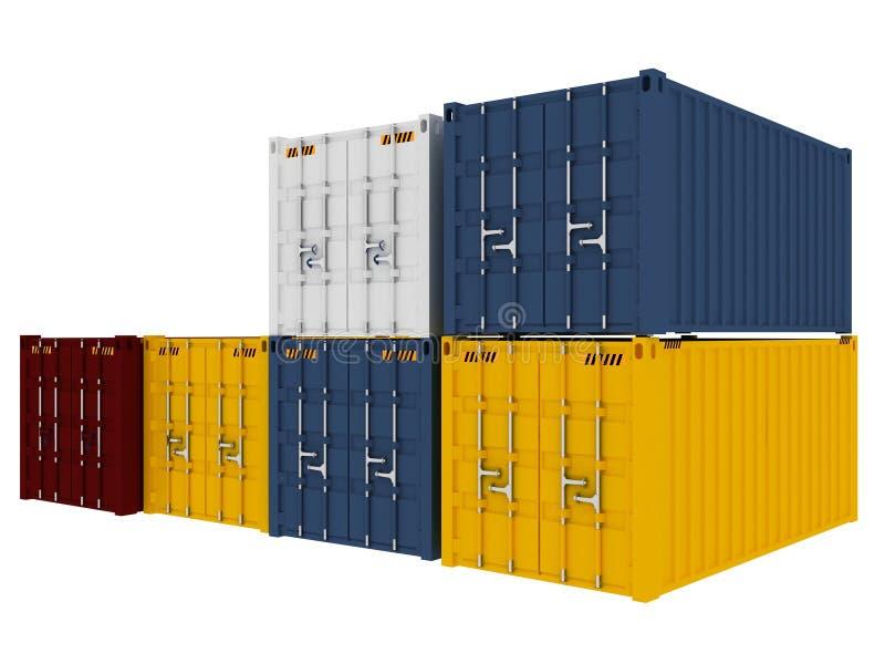 De containers van de lading stock illustratie