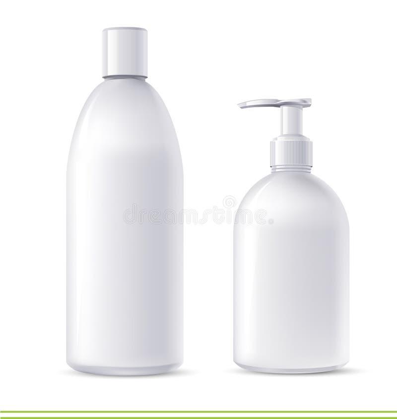 De containers van de shampoo en van de zeep royalty-vrije illustratie