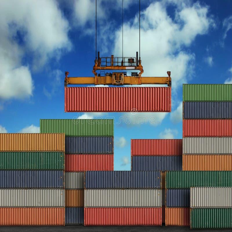 De Containers van de vracht royalty-vrije stock fotografie