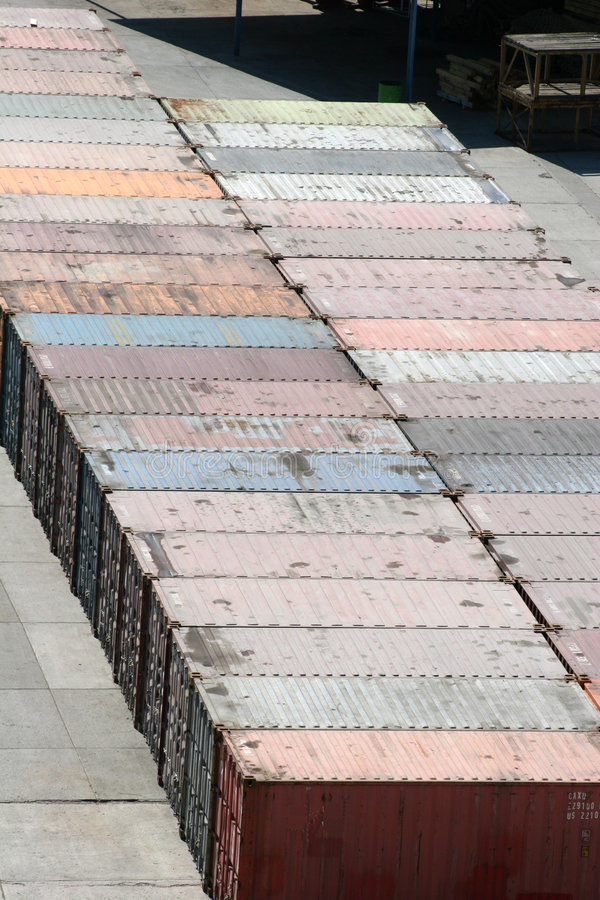 De Containers van de vracht stock foto