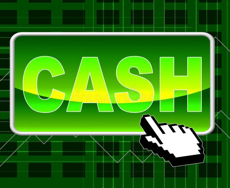 De contant geldknoop betekent World Wide Web en Netwerk vector illustratie