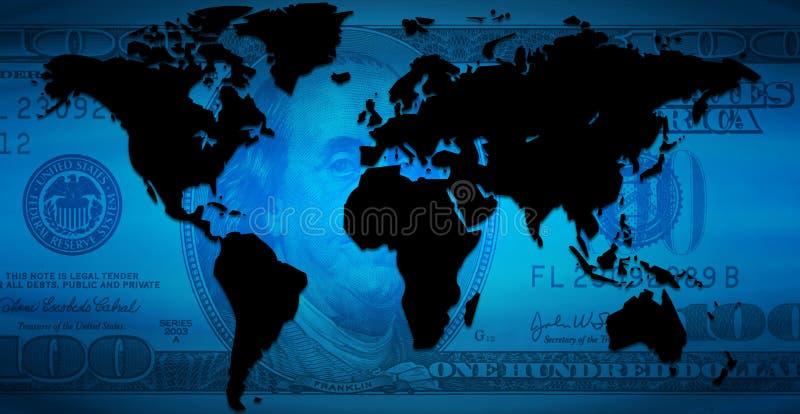 De Continenten van de dollar vector illustratie