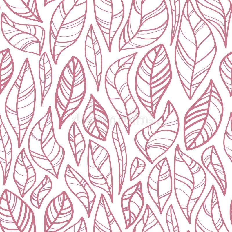 De contour verlaat naadloos patroon vector illustratie