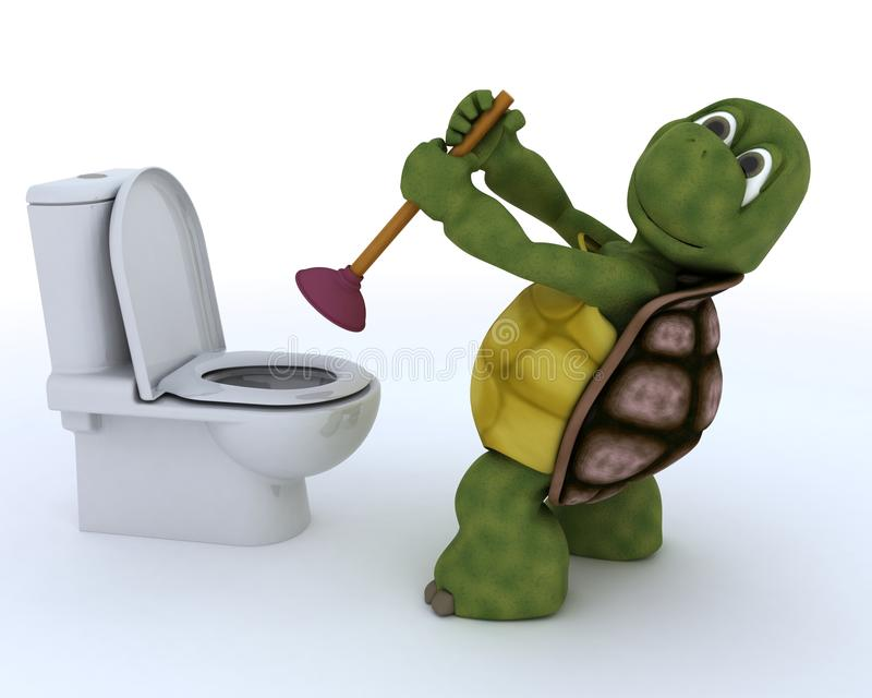 De contractant van het schildpadloodgieterswerk vector illustratie