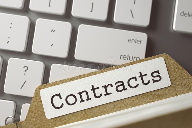 De Contracten van de dossierkaart 3d vector illustratie