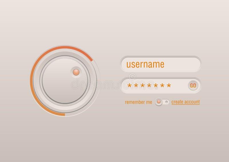 De controle van de interface voor het aanrakingsscherm vector illustratie