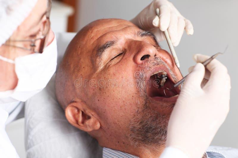 De controle van de mond stock foto