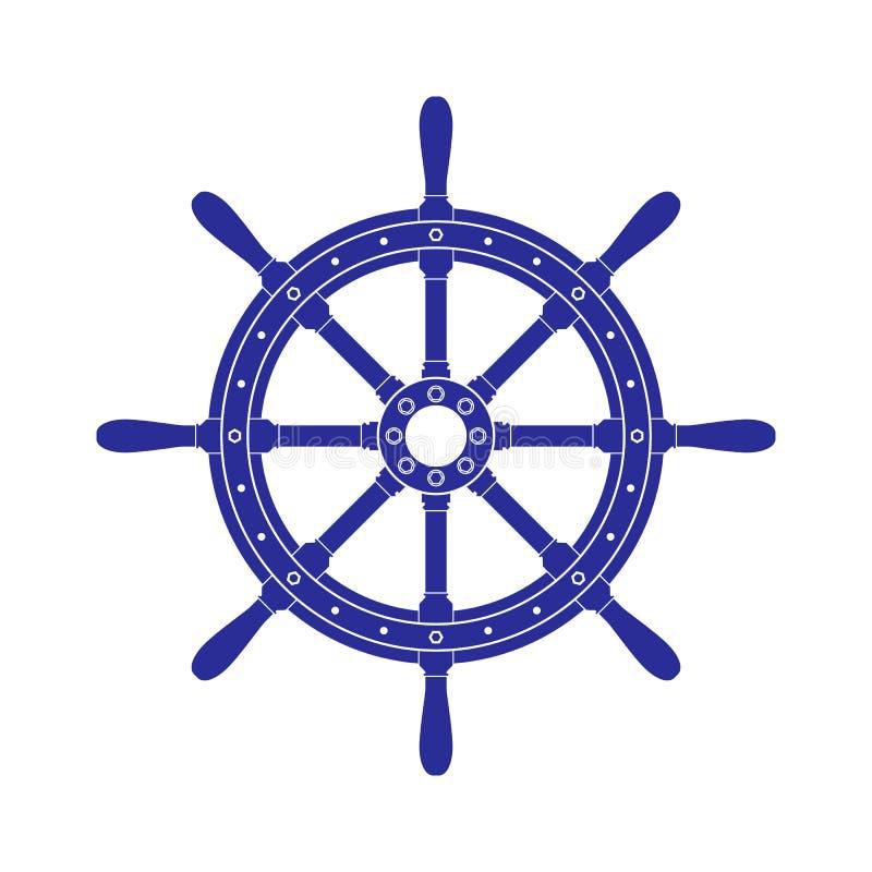 De controle van het handwielschip vector illustratie