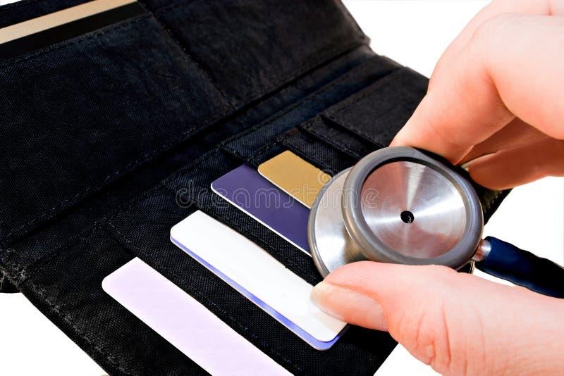 De controle van het krediet stock fotografie