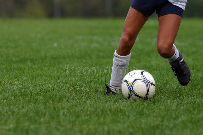 De Controle van het voetbal royalty-vrije stock afbeeldingen