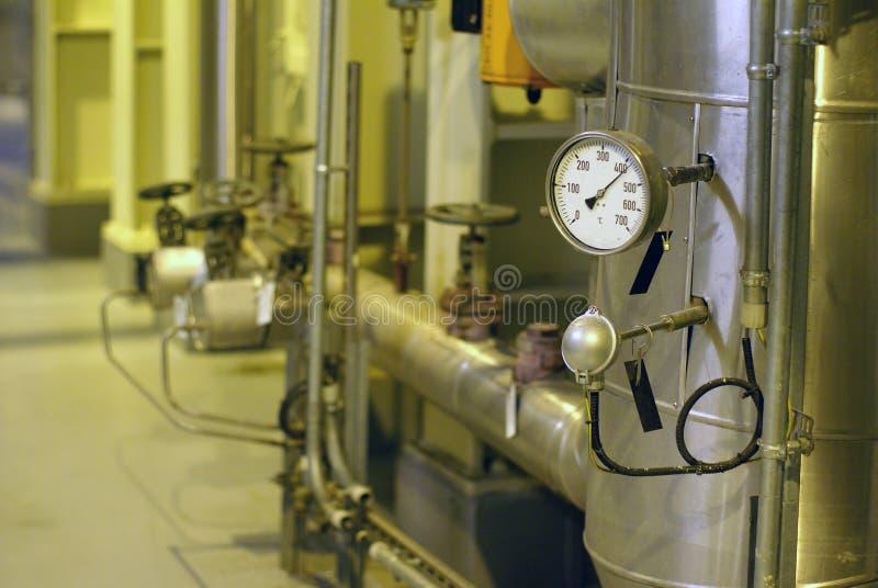 De controleapparaat van de temperatuur en van de druk stock foto's