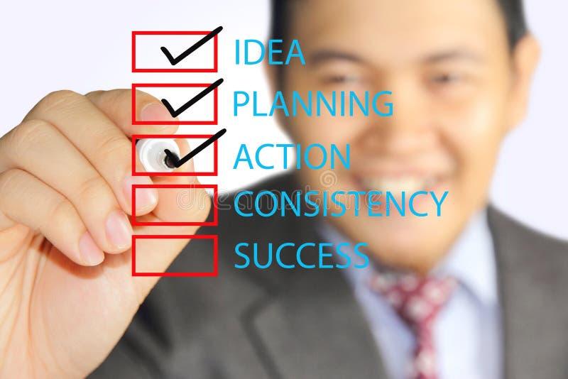 De controlelijst van het businessplan royalty-vrije stock foto's