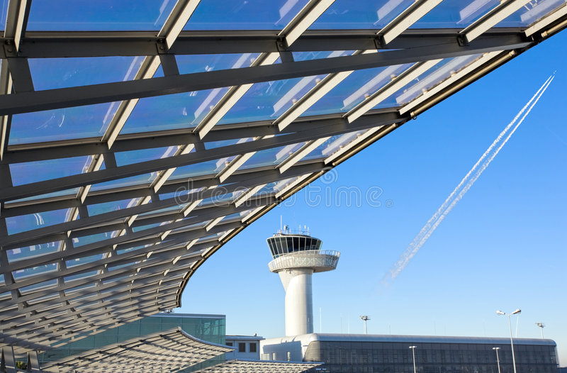 De controletoren van de luchthaven royalty-vrije stock foto
