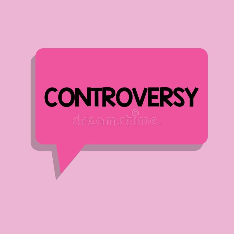 De Controverse van de handschrifttekst Concept die Meningsverschil of Argument over iets betekenen belangrijk voor het tonen royalty-vrije illustratie