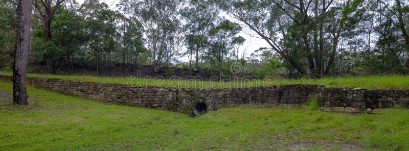 De Convict Sleep of de Grote Noordelijke Weg dichtbij Bucketty, in Hunter Valley, NSW, Austrialia royalty-vrije stock afbeelding