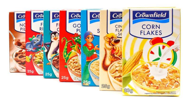 De cornflakes van Crownfield stock afbeeldingen