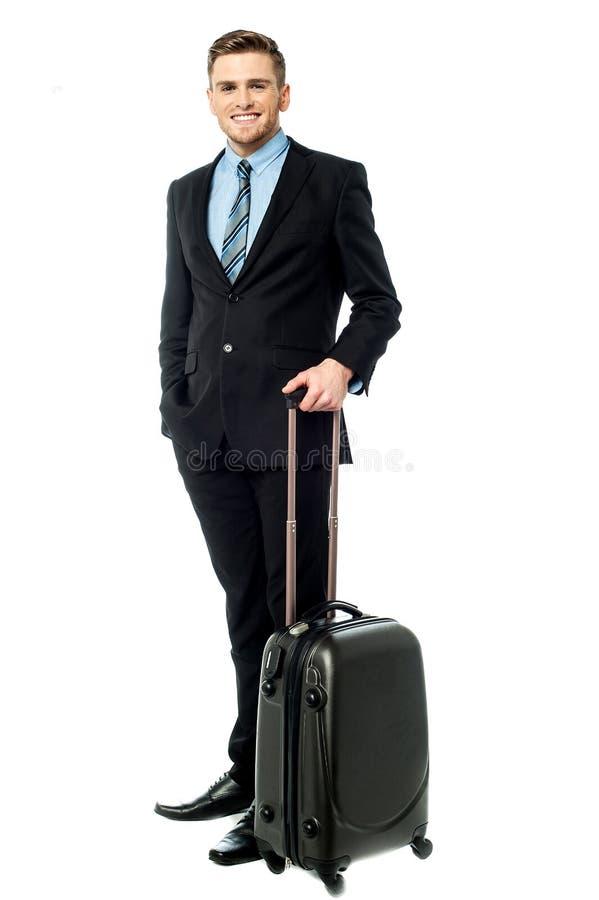 De Corpopratekerel allen plaatste voor zakenreis royalty-vrije stock fotografie