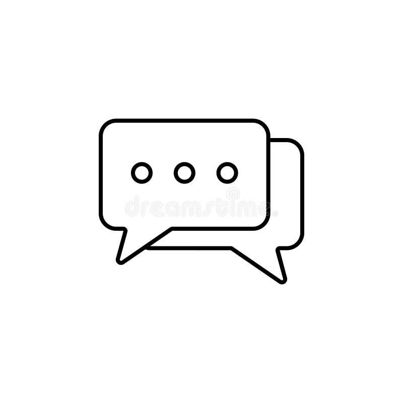 de correspondentie borrelt pictogram Element van eenvoudig pictogram voor websites, Webontwerp, mobiele app, informatiegrafiek Du royalty-vrije illustratie