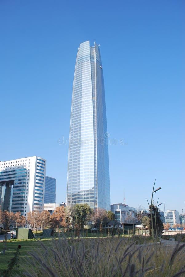 De Costanera-Toren in Chili stock foto's