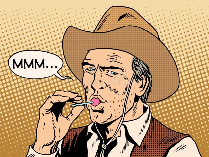 De cowboy en de Lolly stock illustratie