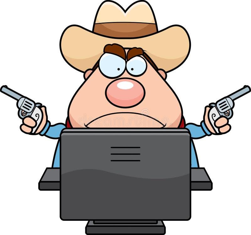De Cowboy van de computer stock illustratie
