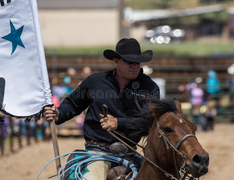 De cowboy van de rodeo royalty-vrije stock fotografie