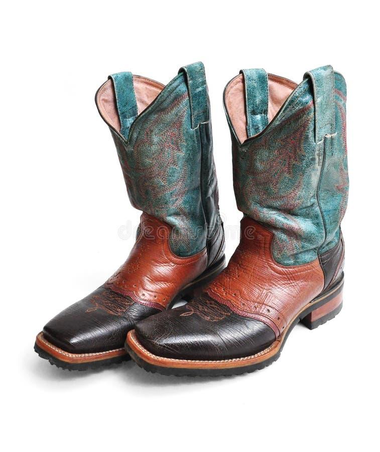 De cowboylaarzen van de rodeostijl royalty-vrije stock afbeeldingen