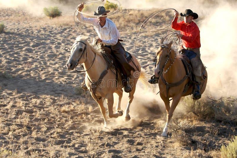 De Cowboys van Dueling stock fotografie