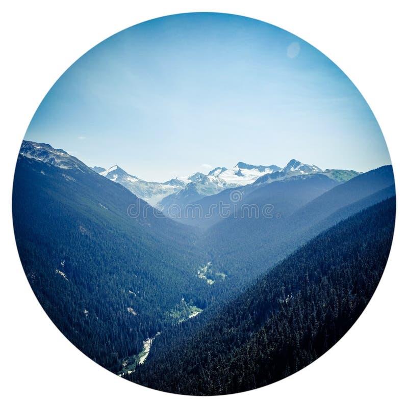 De crête à crête, Whistler image libre de droits
