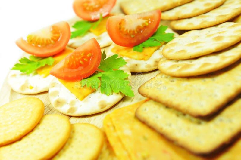 De crackers van de kaas stock foto's