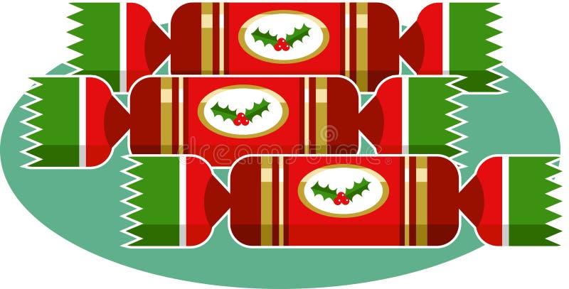 Download De Crackers van Kerstmis vector illustratie. Afbeelding bestaande uit partij - 43251