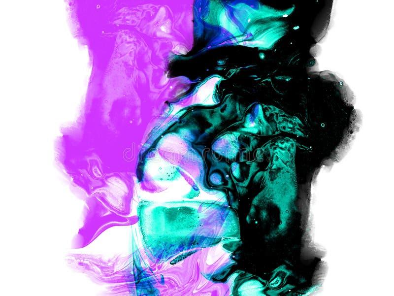 De creatieve abstracte hand schilderde achtergrond, behang, textuur, close-upfragment van het acryl schilderen op canvas met bors vector illustratie