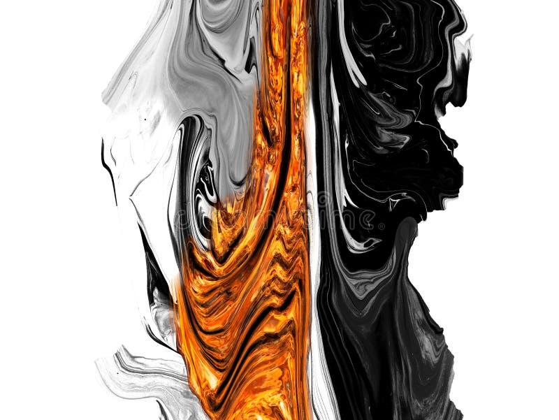 De creatieve abstracte hand schilderde achtergrond, behang, textuur, close-upfragment van het acryl schilderen op canvas met bors royalty-vrije illustratie