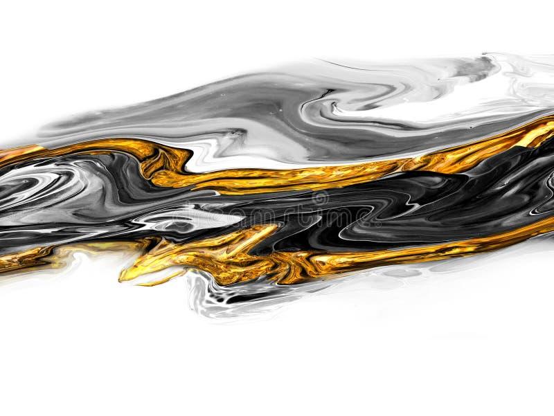 De creatieve abstracte hand schilderde achtergrond, behang, textuur, close-upfragment van het acryl schilderen op canvas met bors stock illustratie