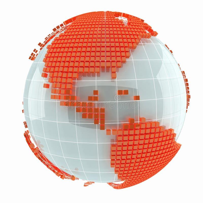 De creatieve abstracte kaart van de kubuswereld vector illustratie
