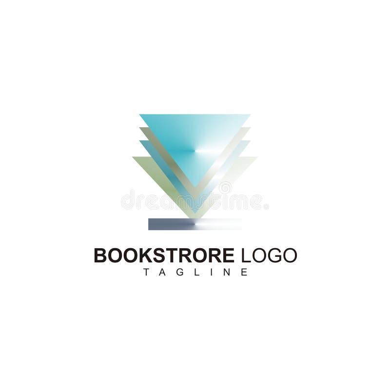 De creatieve boekhandel met sympleontwerp klaar te gebruiken royalty-vrije illustratie